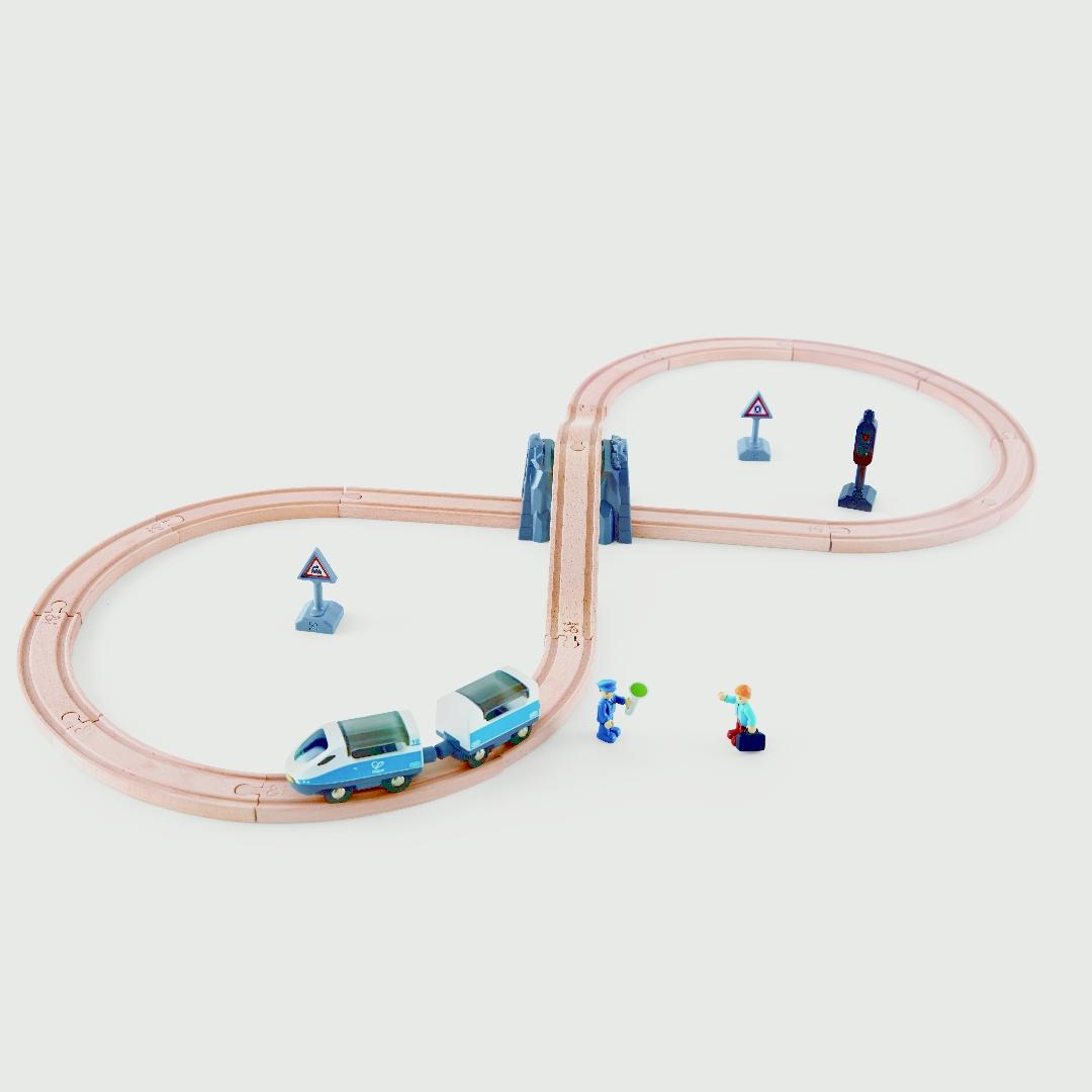 Hape Figure Eight Railway Set (27pcs)