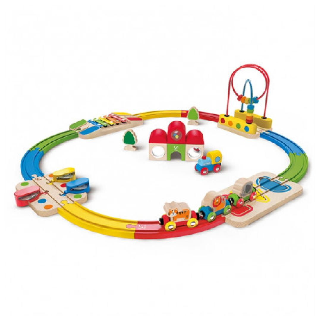 Hape Rainbow Route Railway & Station Set