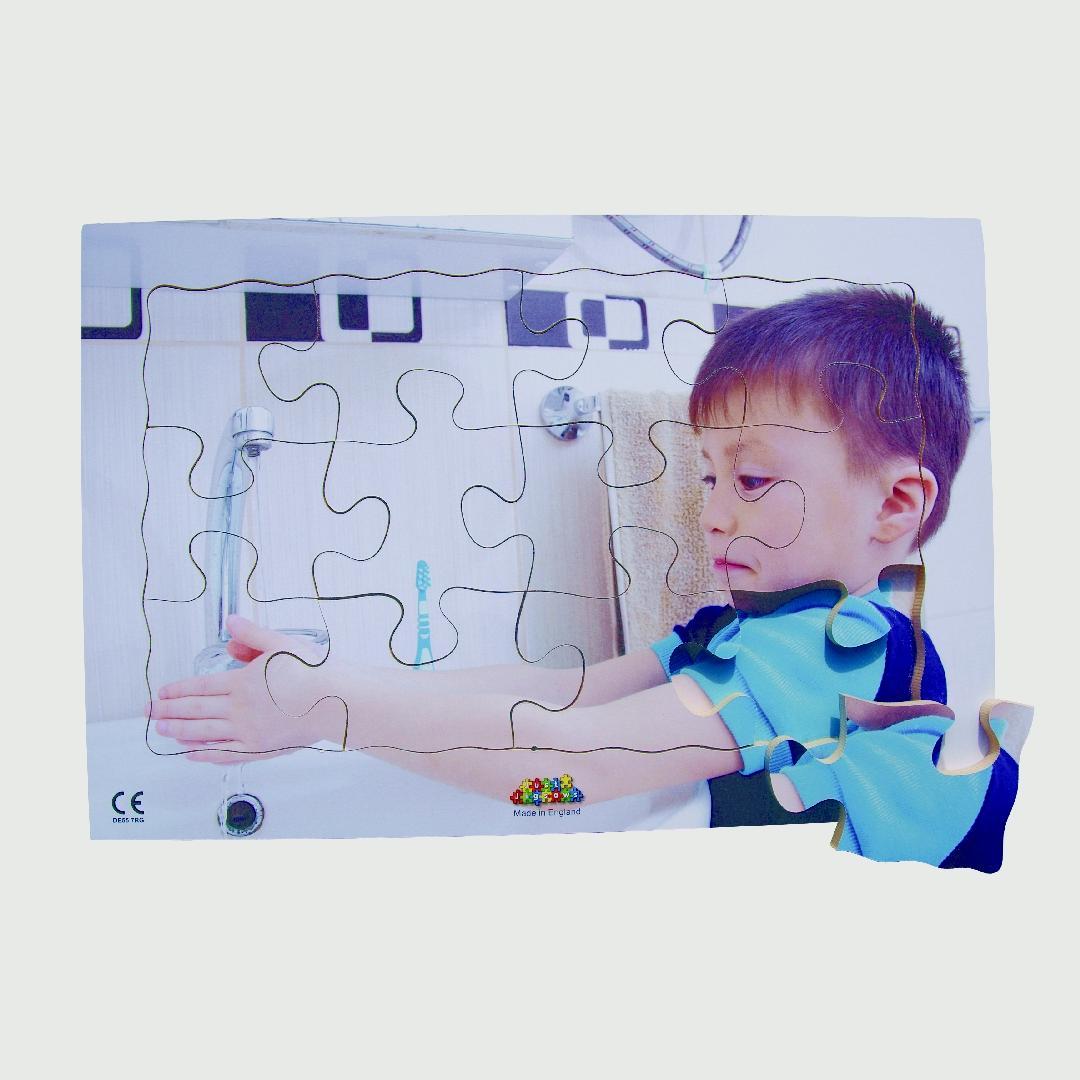 Washing Hands Tray Puzzle (12pcs)