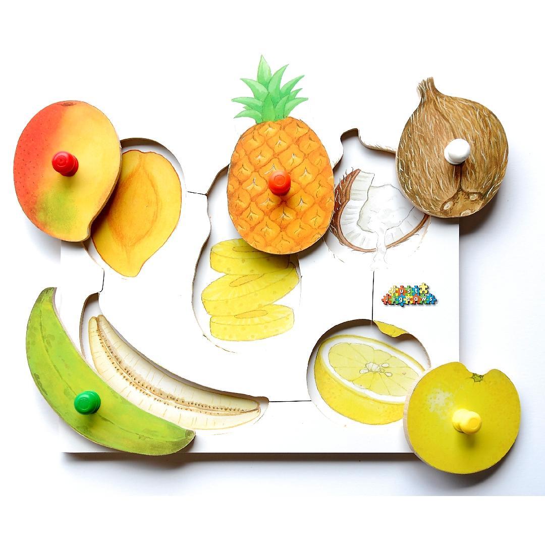 Exotic Fruit Peg Puzzle