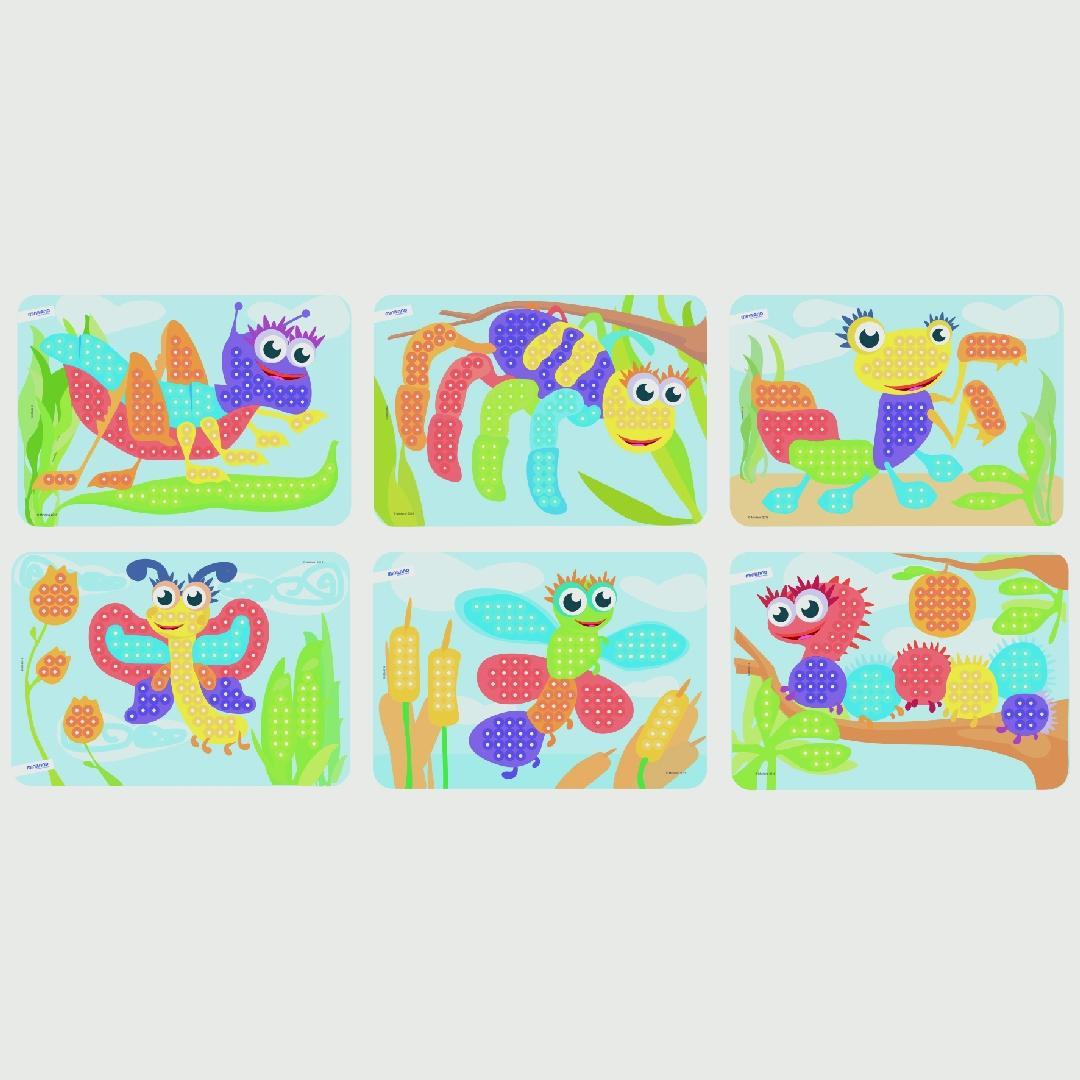 Peg Sheets - Bugs (6pcs)