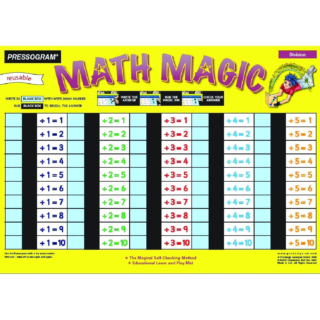 Maths-Magic Division (1pc)
