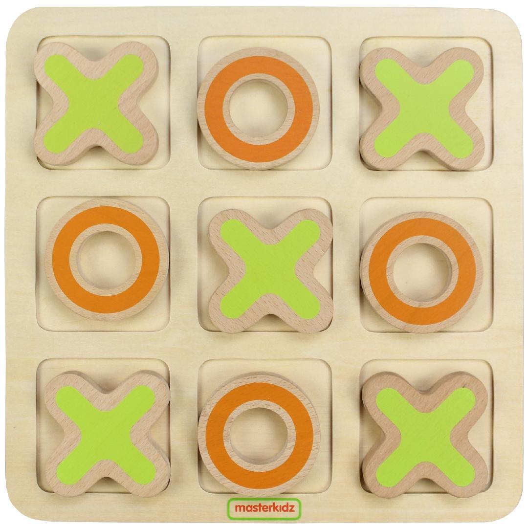 Wooden Tic-Tac-Toe Board