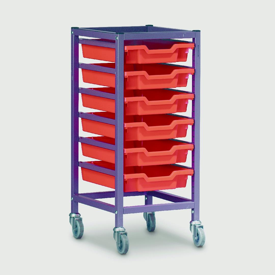 Modular Storage Trolley Single 850mmH