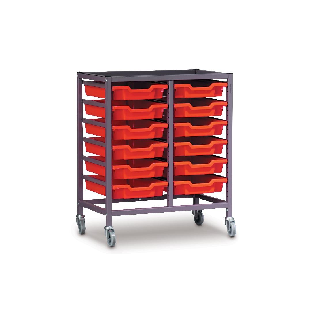 Modular Storage Trolley Double 725mmH
