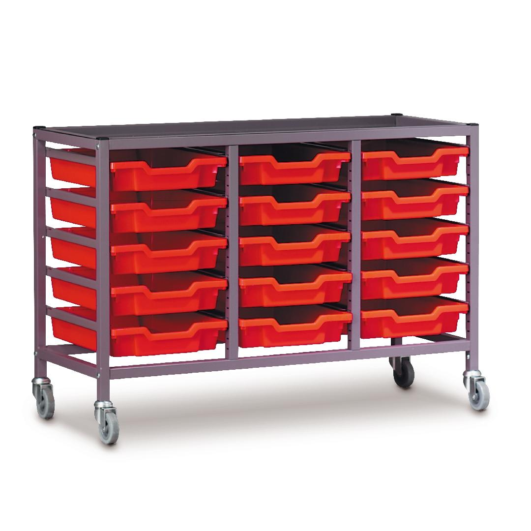 Modular Storage Trolley Treble 850mmH