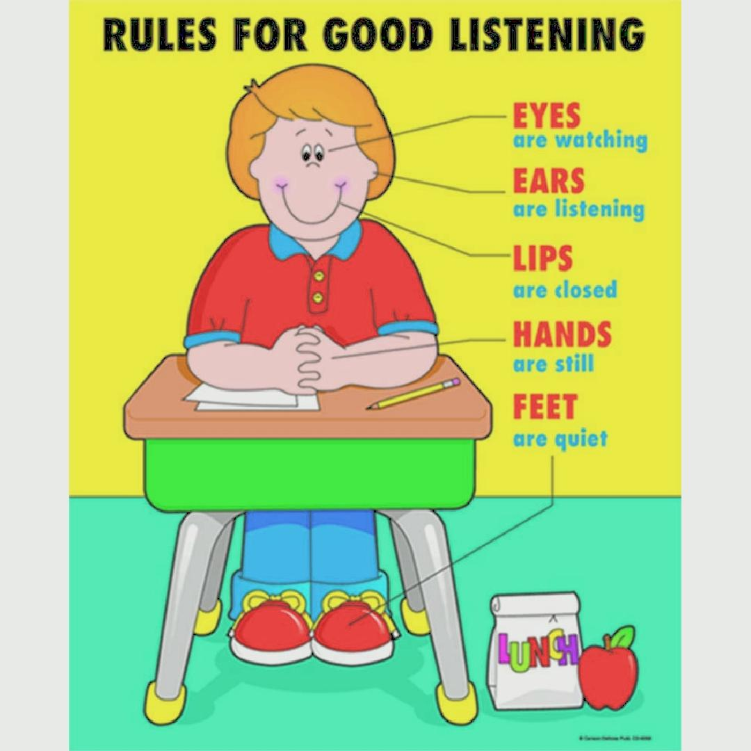 Rules for Good Listening Poster