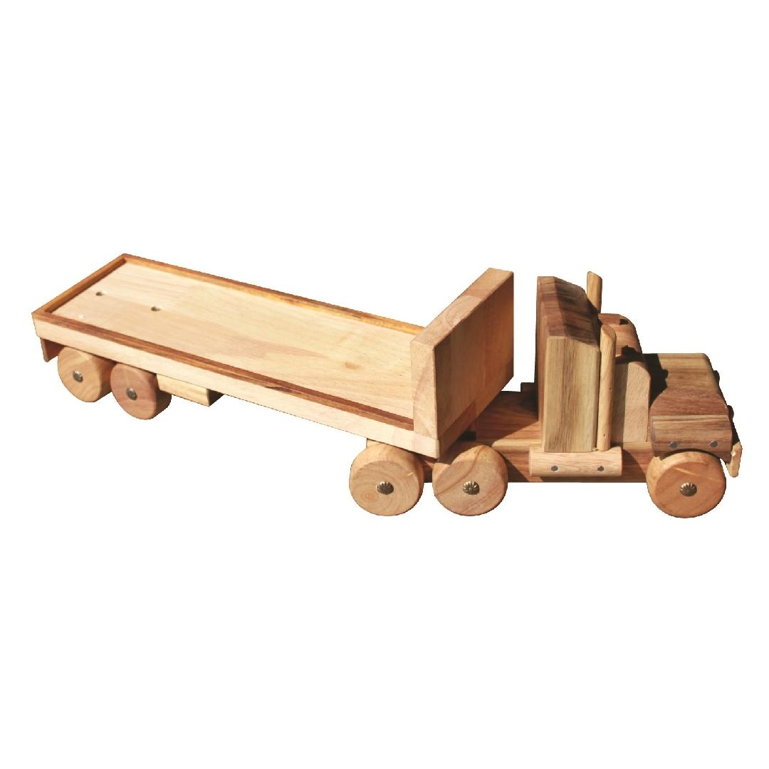 Natural Wooden Flatbed Truck