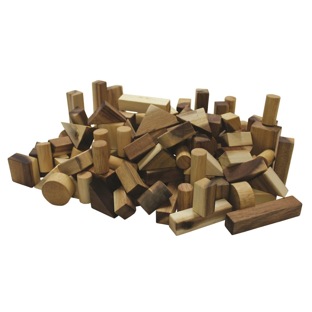 Real Natural Wood Project Block Set (117pcs)