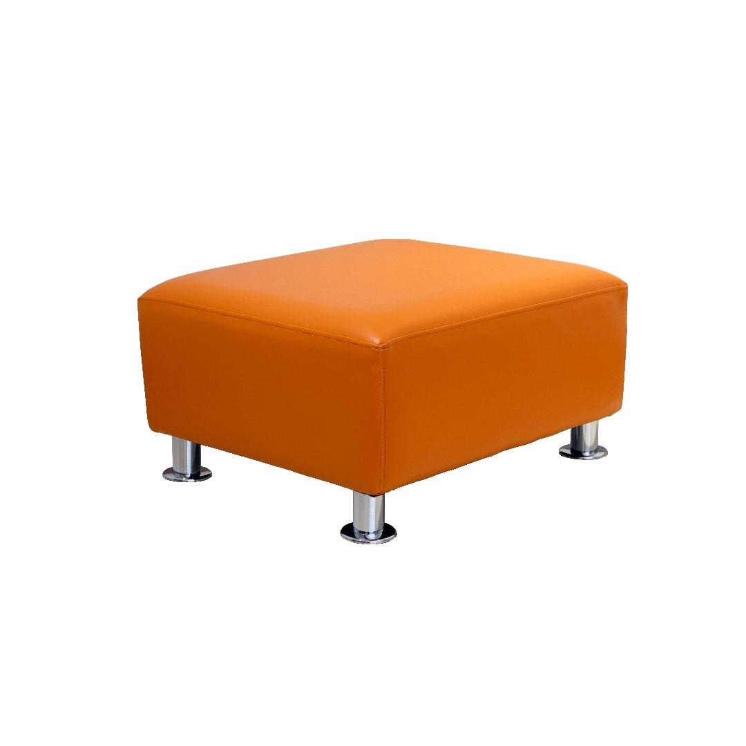 Modern Sofa Single Ottoman Tangerine