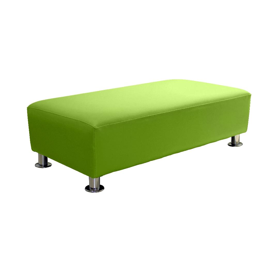 Modern Sofa Double Ottoman Lime