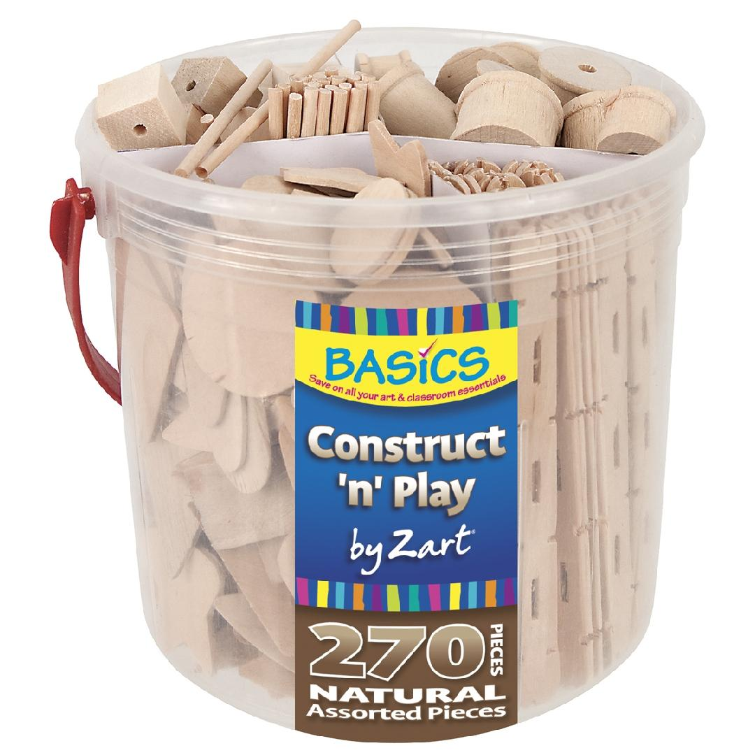 Natural Construct 'n' Play (Tub of 270)