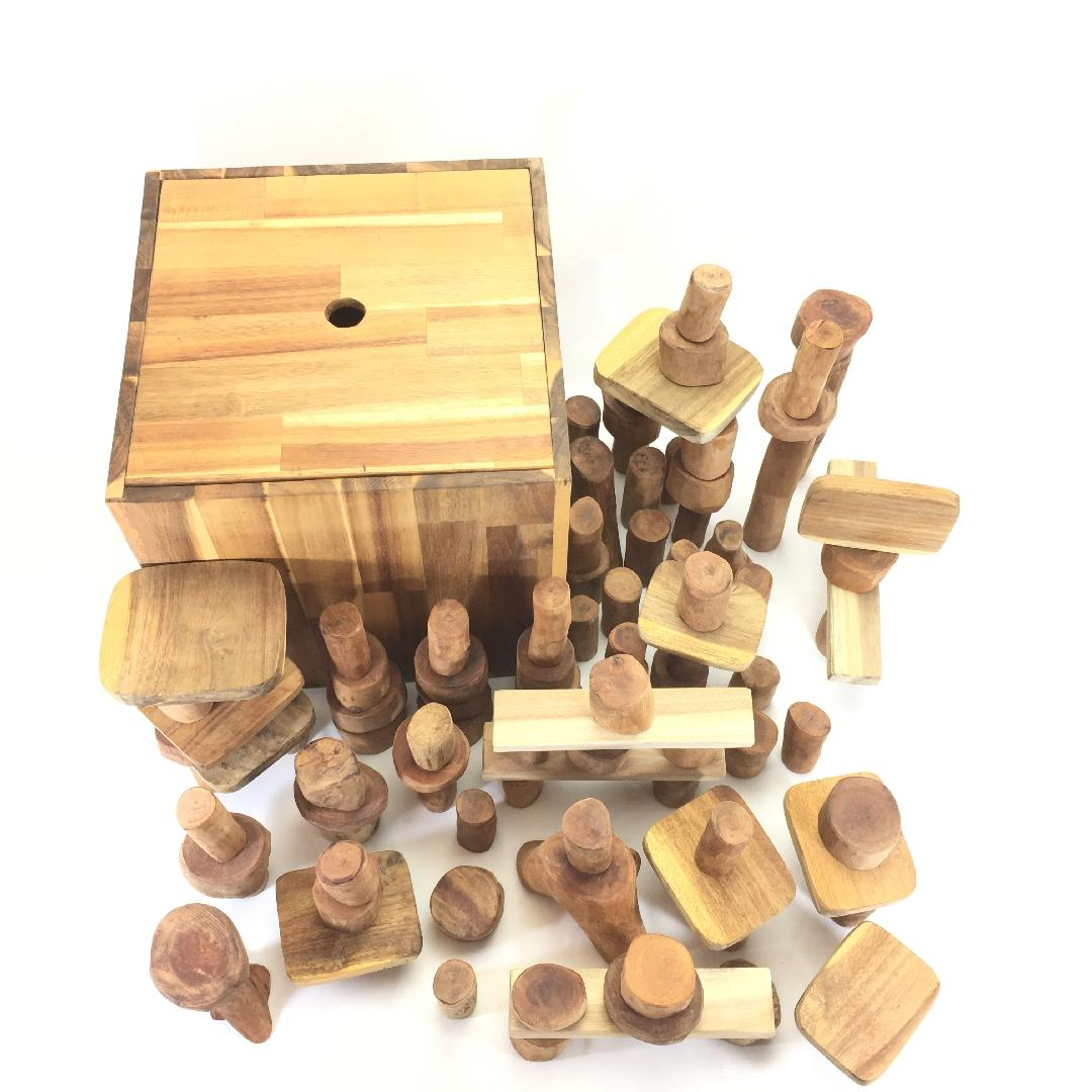 Natural Lichee Block Set (106pcs)