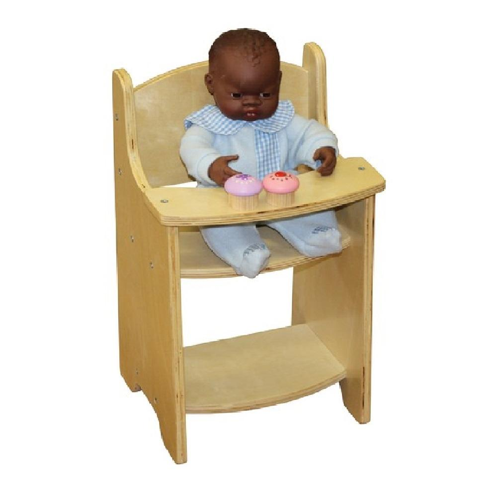 Birchwood Play Wooden Doll High Chair