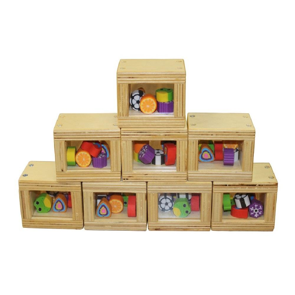 Birchwood Blocks with Colour Shapes