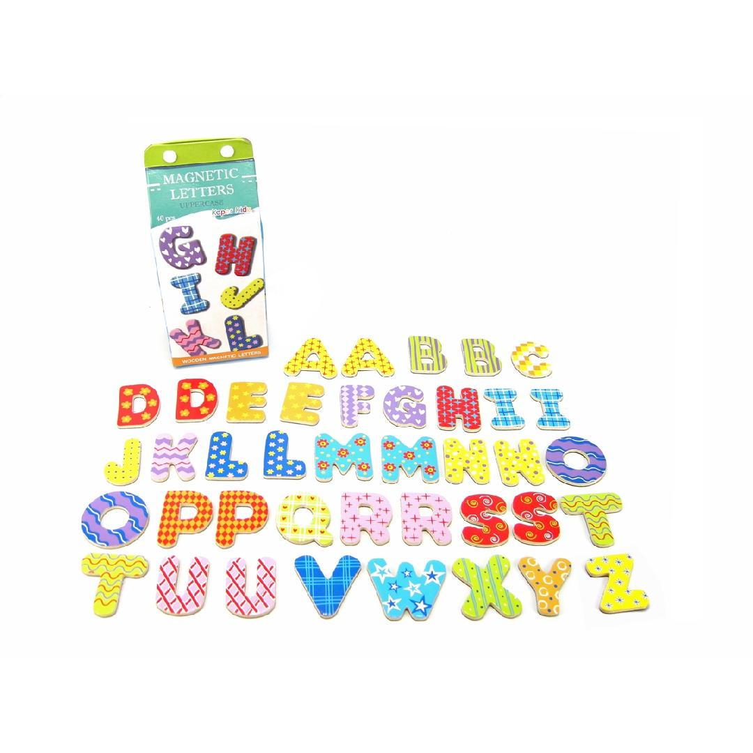 Magnetic Uppercase Letters in Carton