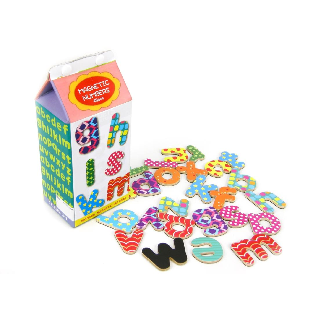 Magnetic Lowercase Letters in Carton