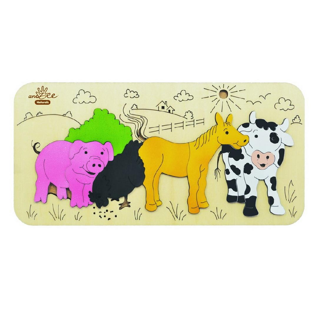 Farm Animals Raised Puzzle (8pcs)