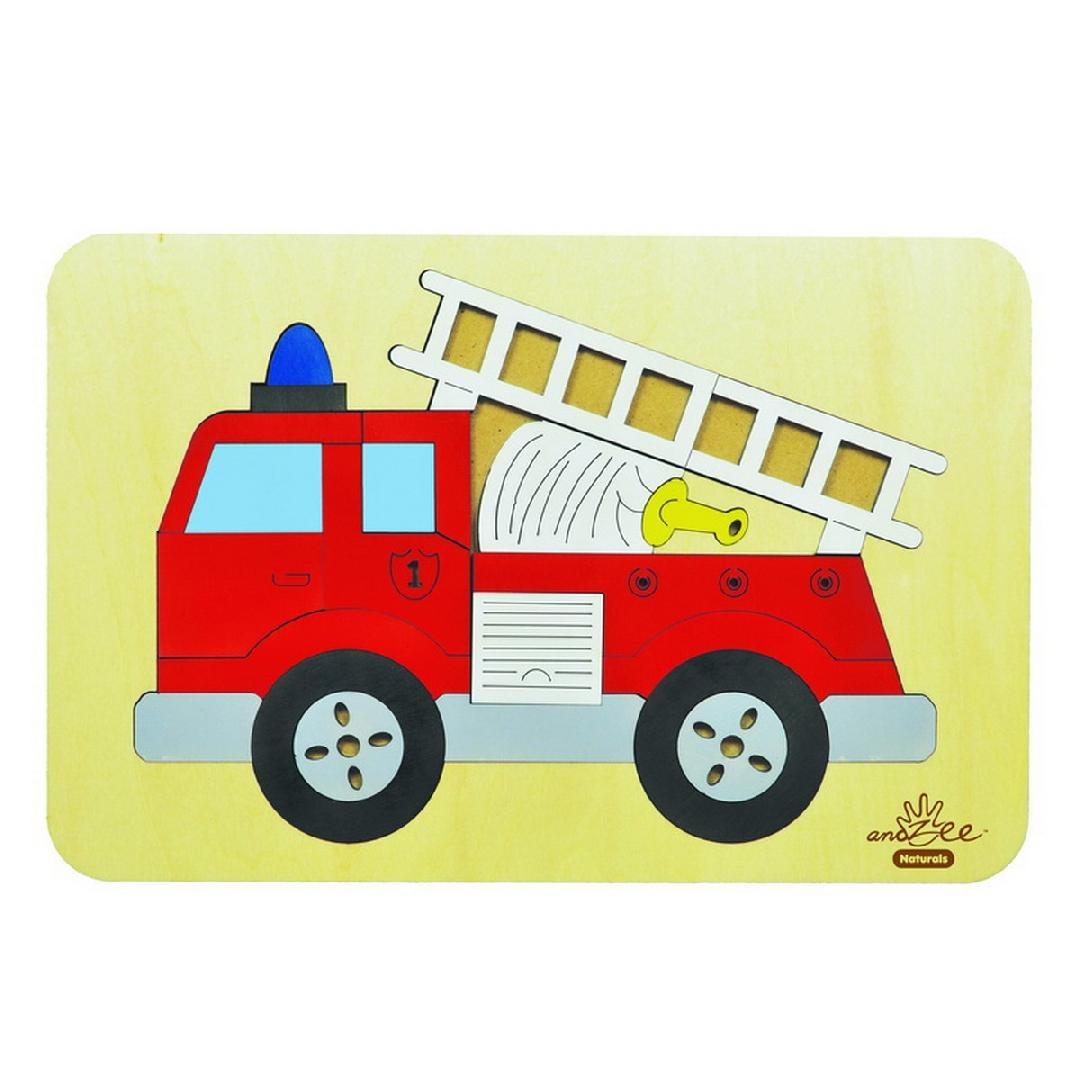 Fire Engine Long Flat Puzzle (20pcs)