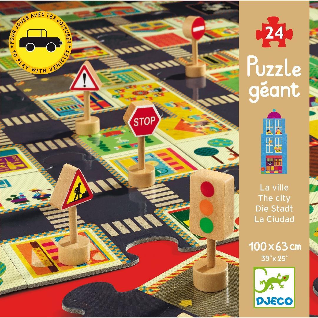 City Roads Giant Puzzle (24pcs)