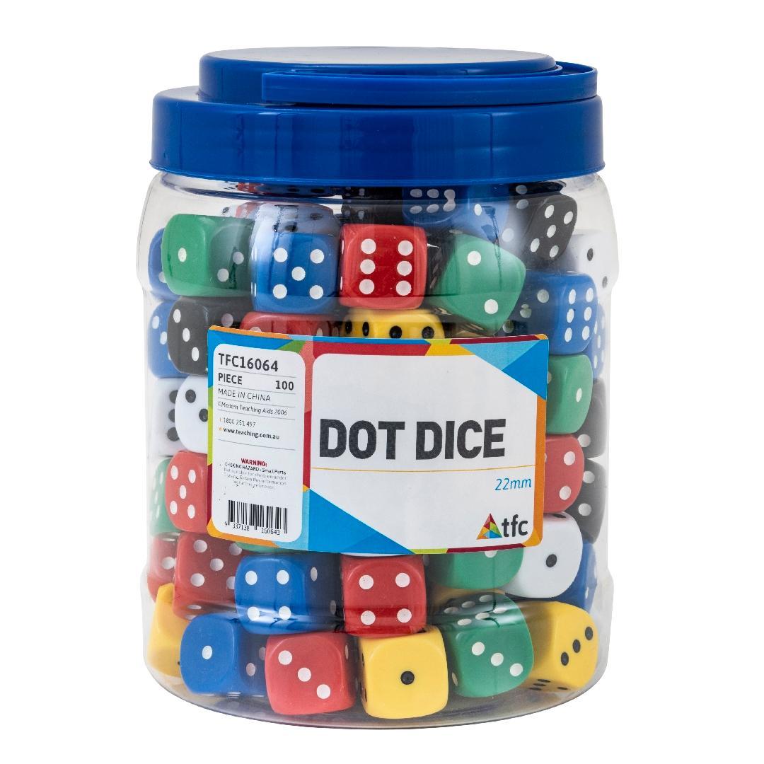 Jar of Dot Dice (100pcs)