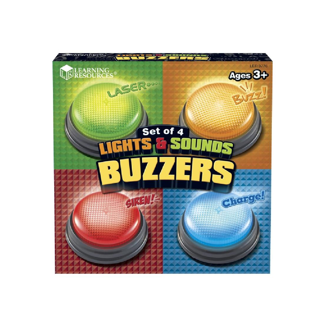 Lights and Sounds Answer Buzzers (Set of 4)