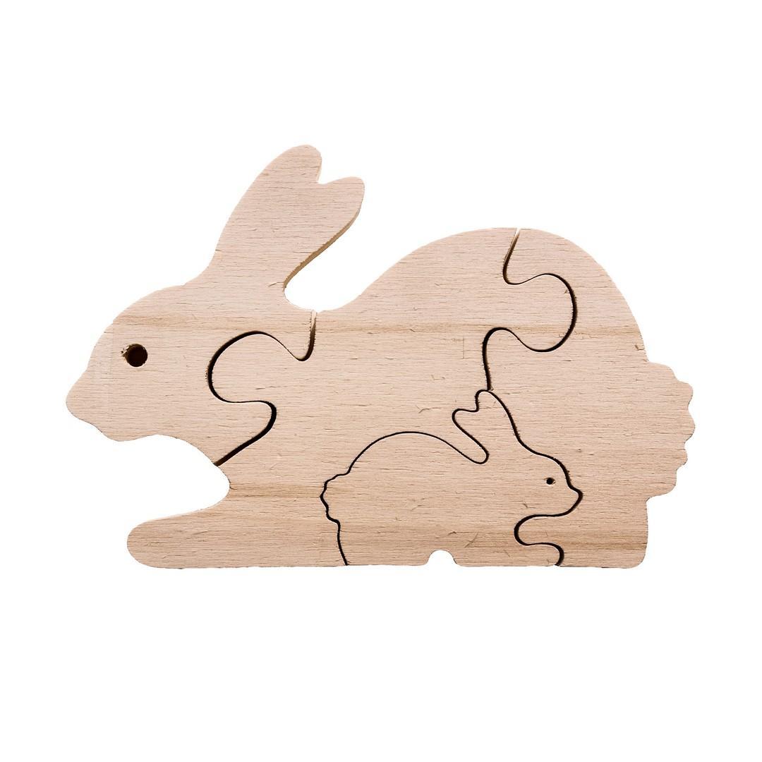 Wooden Rabbit Baby Puzzle