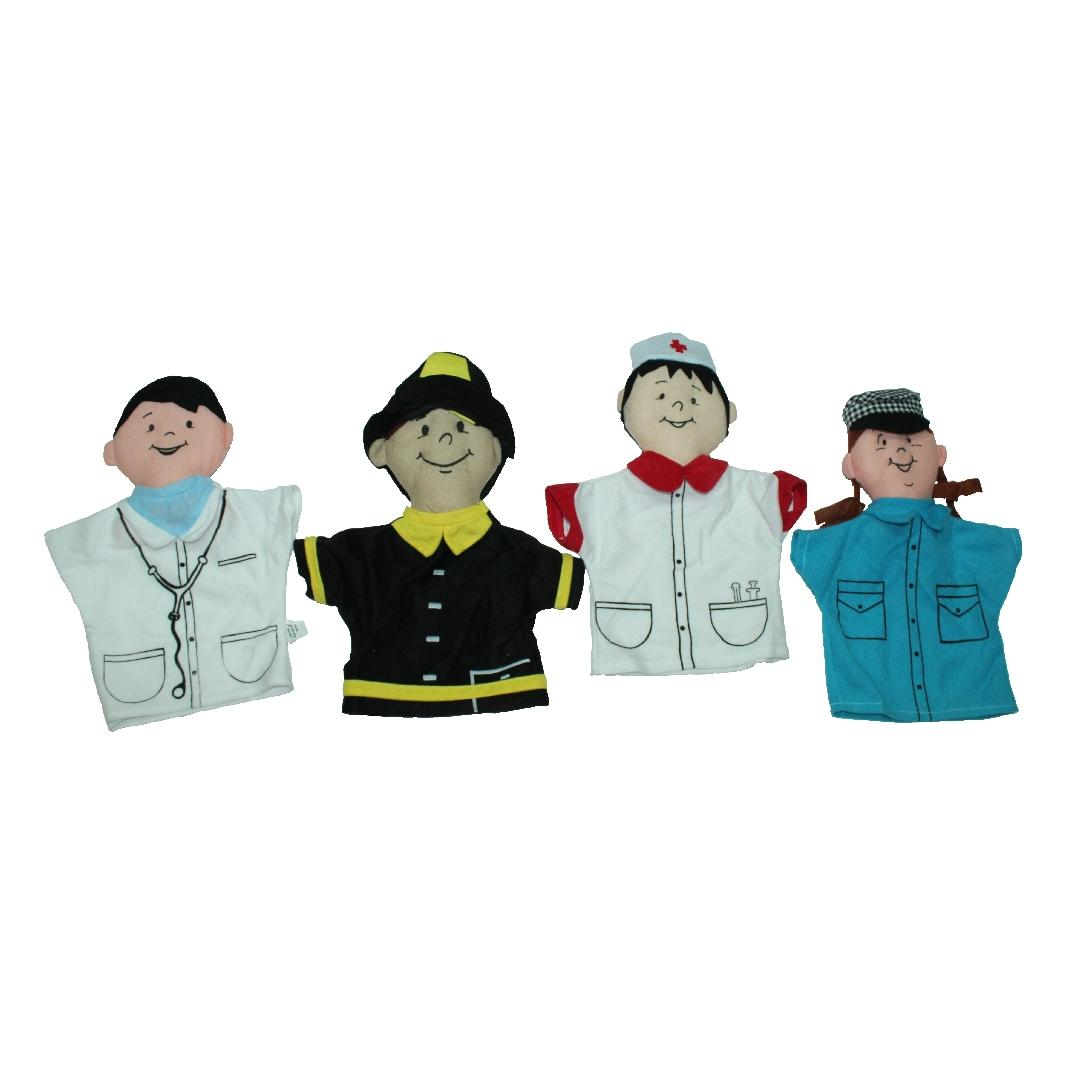 Community Helper Hand Puppet Set (4pcs)