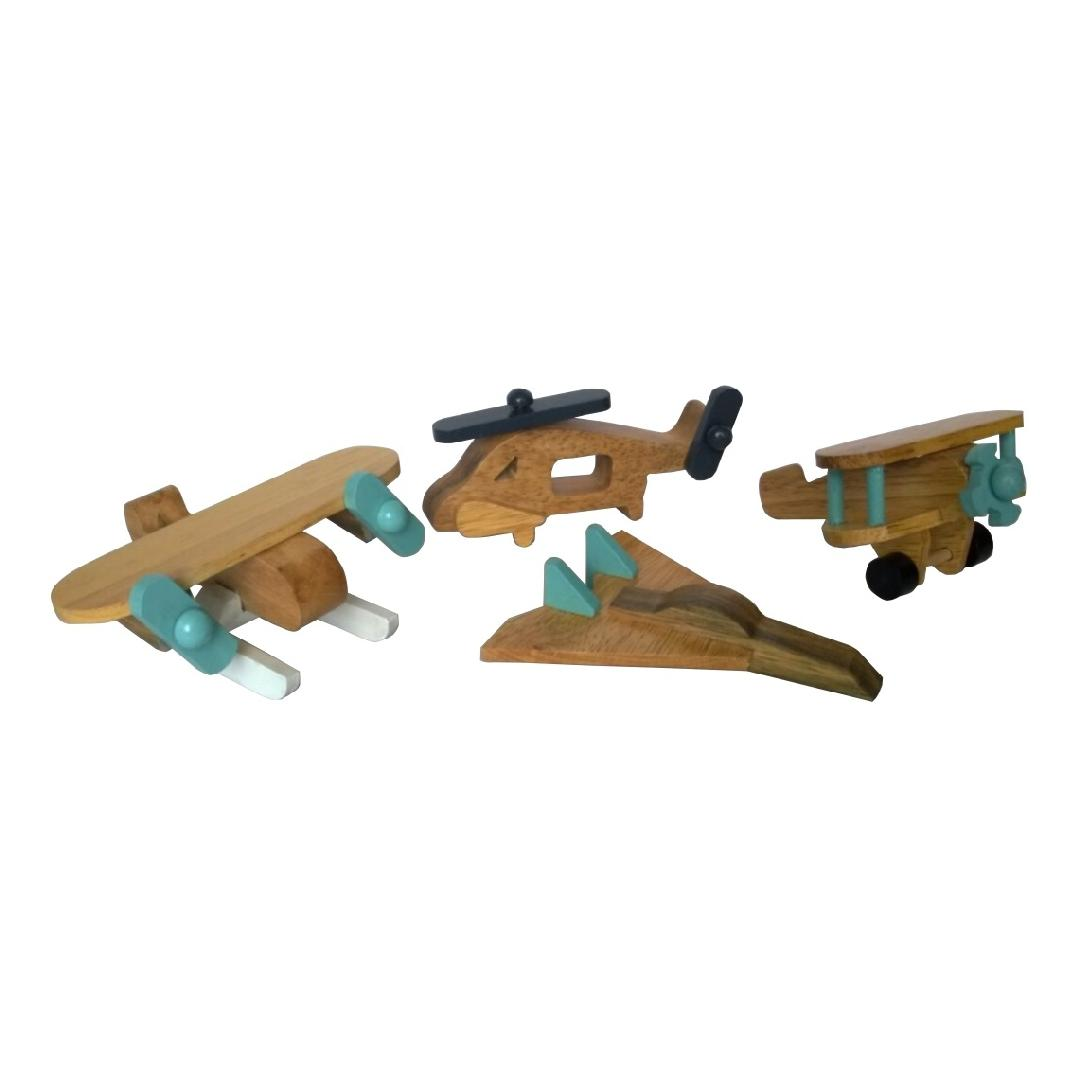 Natural Timber Aircraft Set (4pcs)