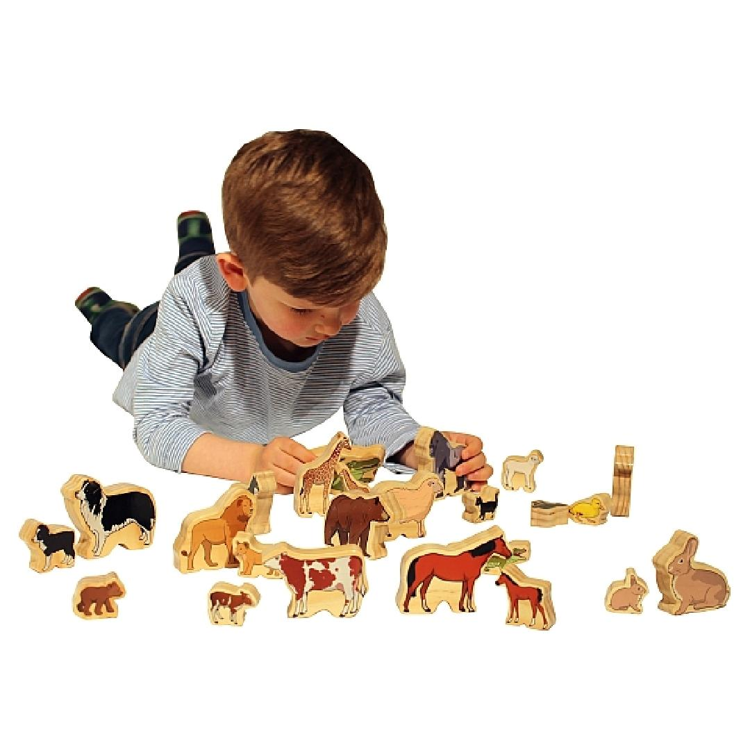 Wooden Animal Families Set (24pcs)