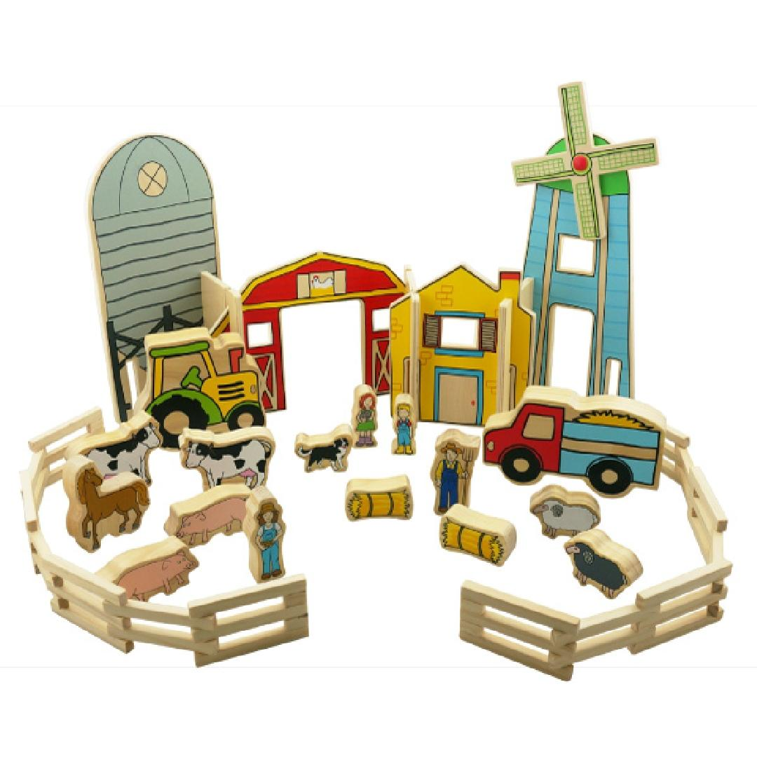 The Happy Architect Farm Playset (26pcs)