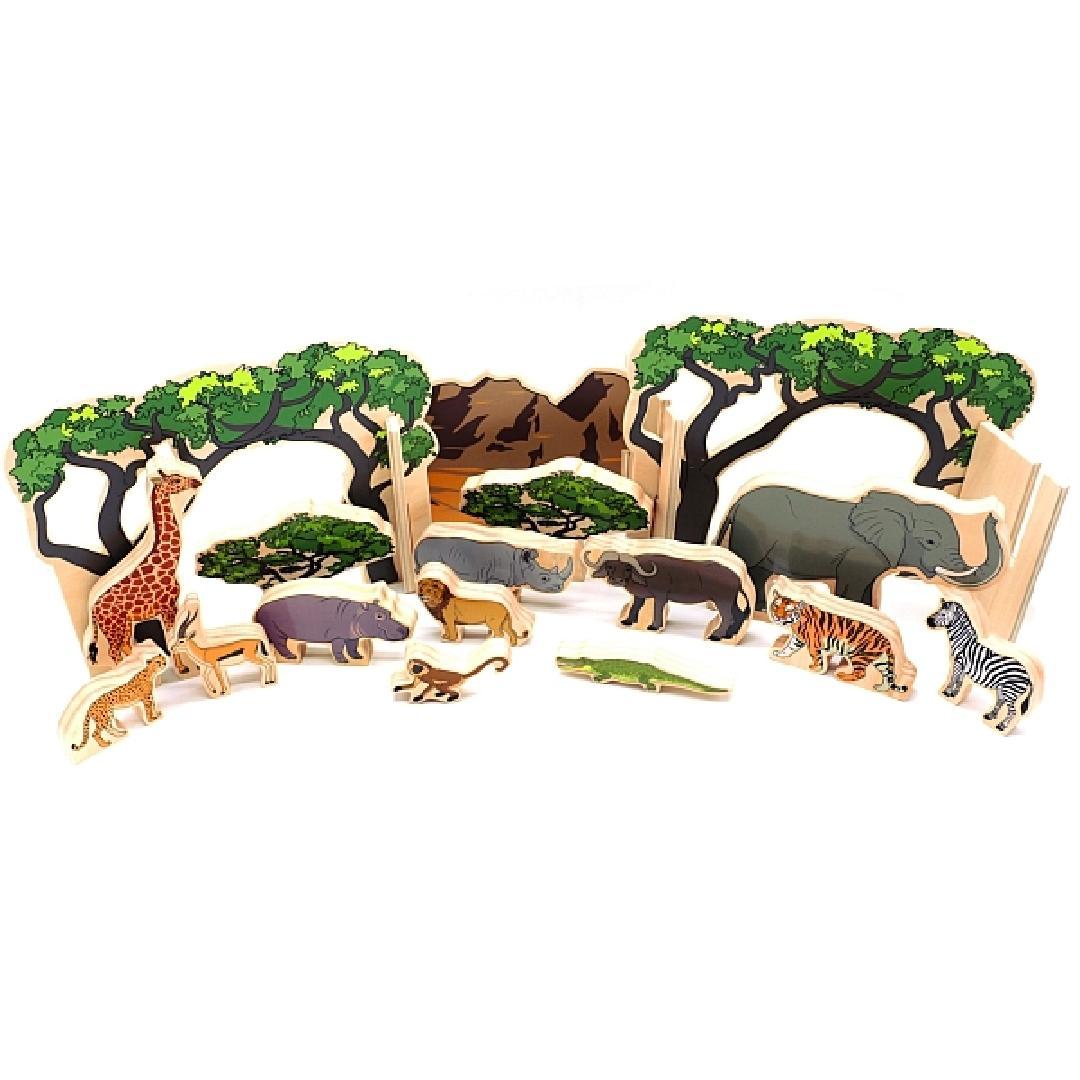The Happy Architect Wild Animals (20pcs)
