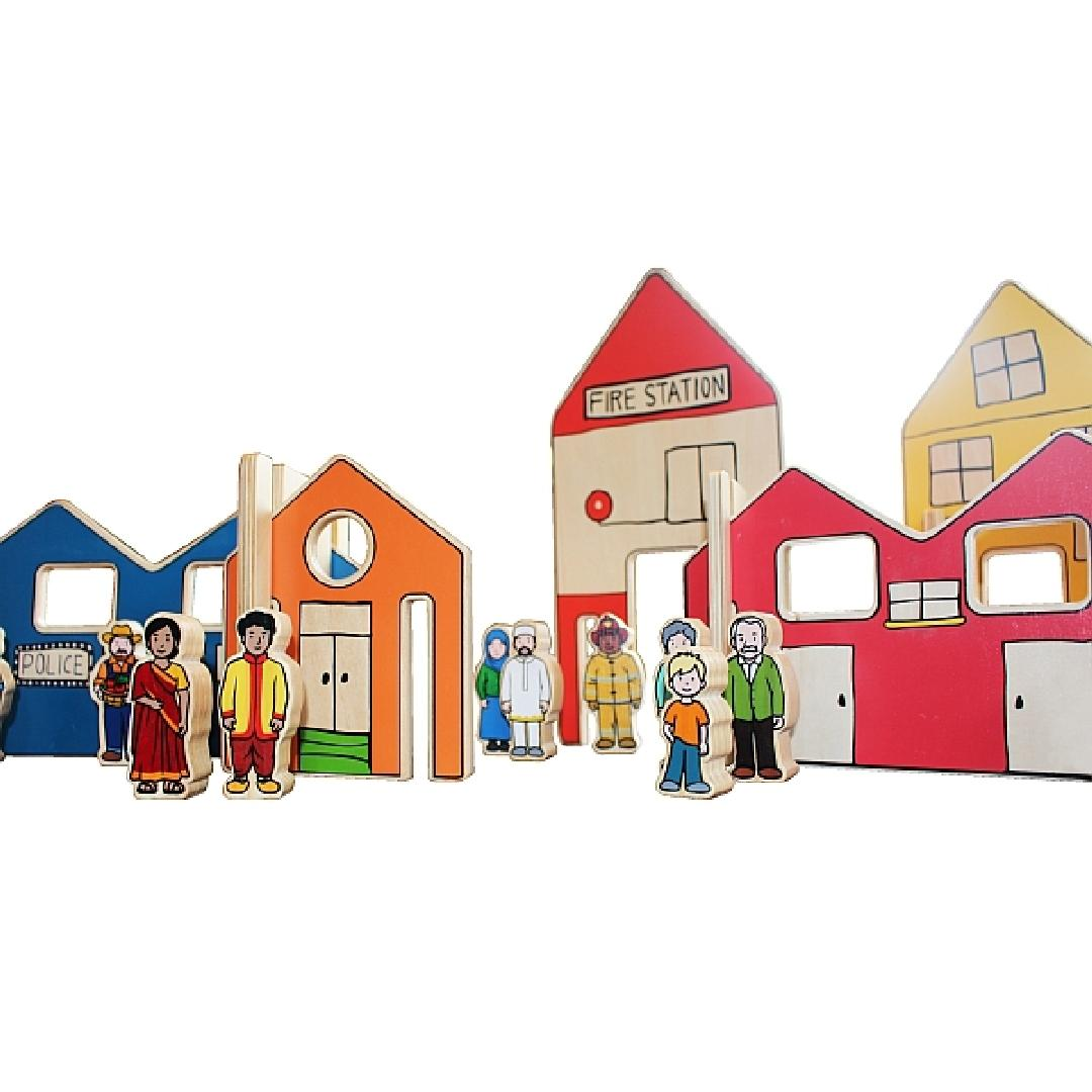 The Happy Architect Town Playset (26pcs)