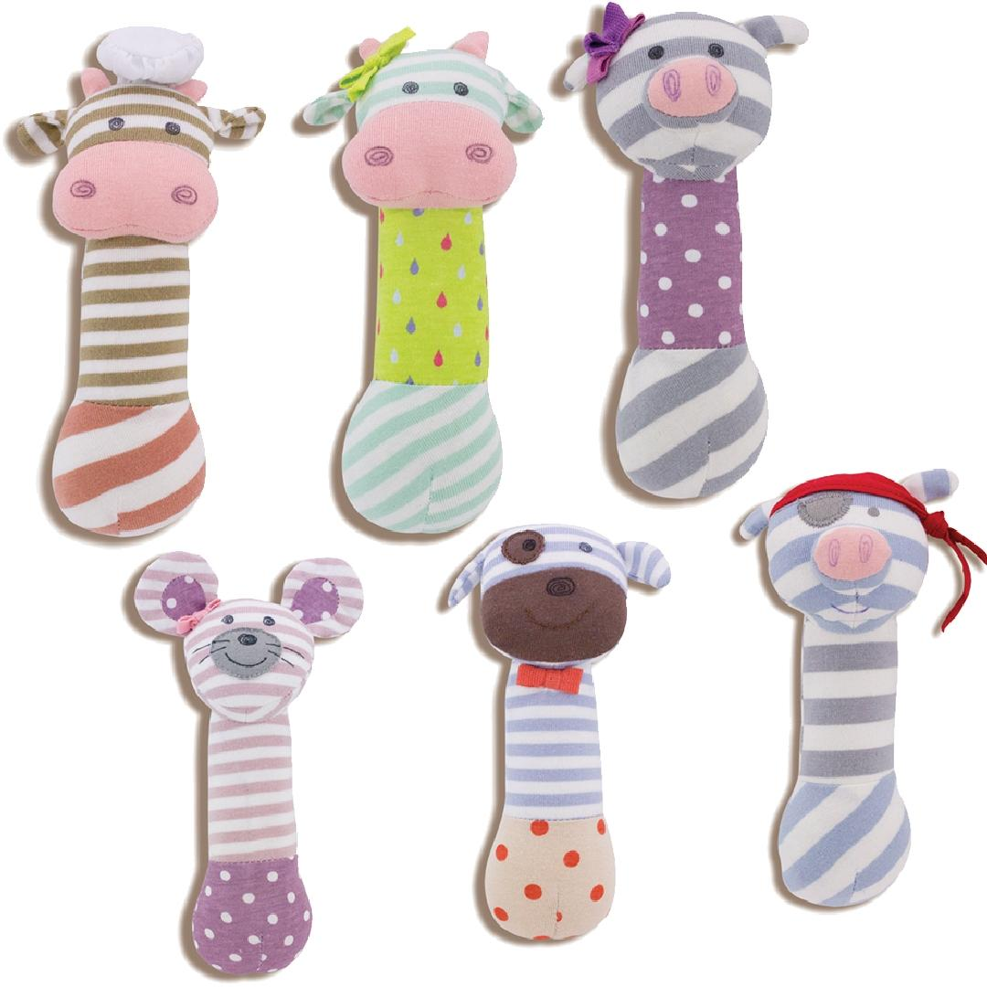 Farm Buddies Squeaky Toy Set (6pcs)