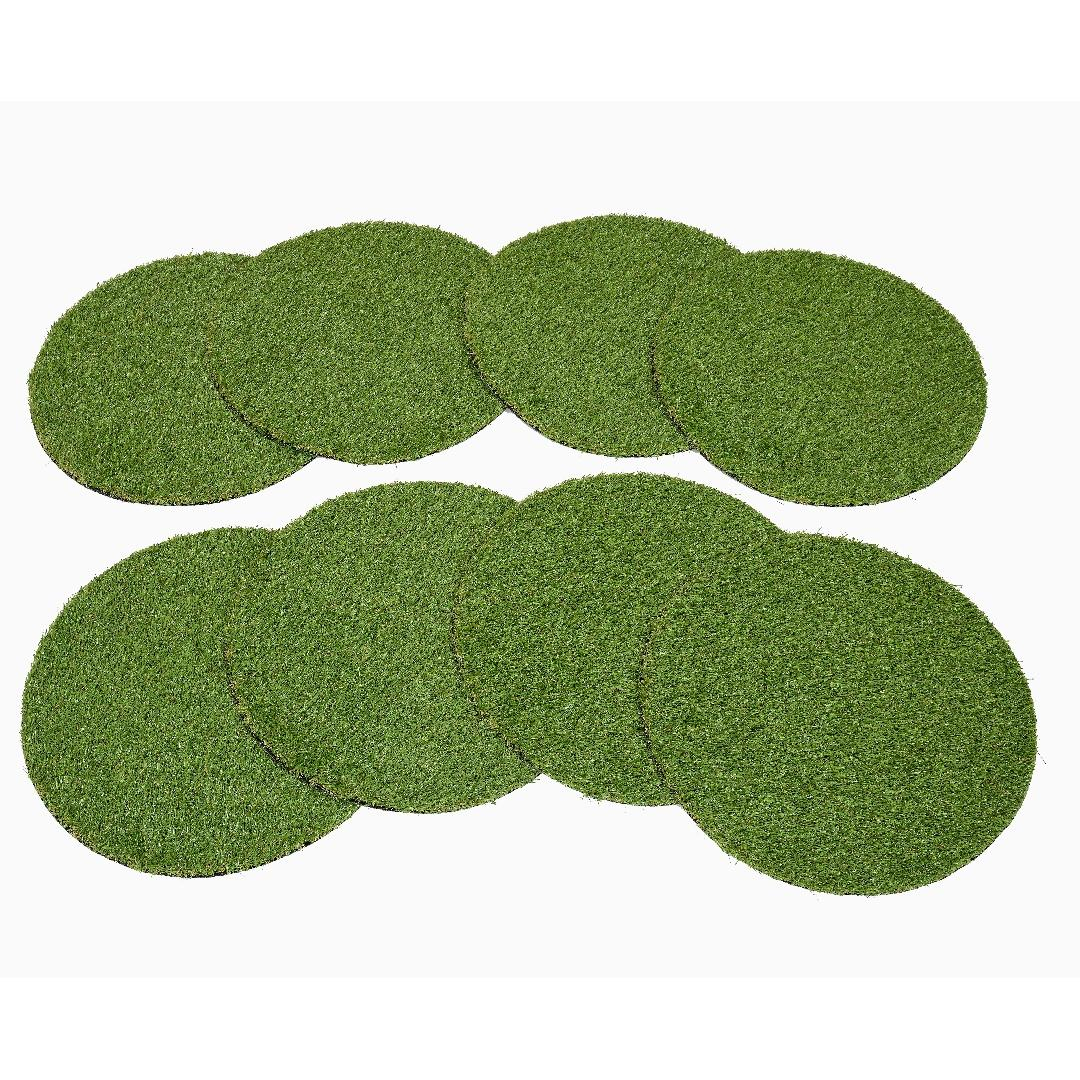 Textured Grass Circles 50x50cm (Set of 8)