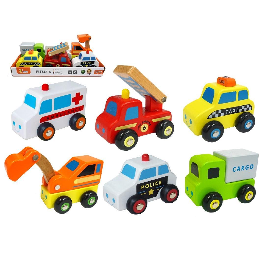 Mini Occupation Vehicles Set (6pcs)