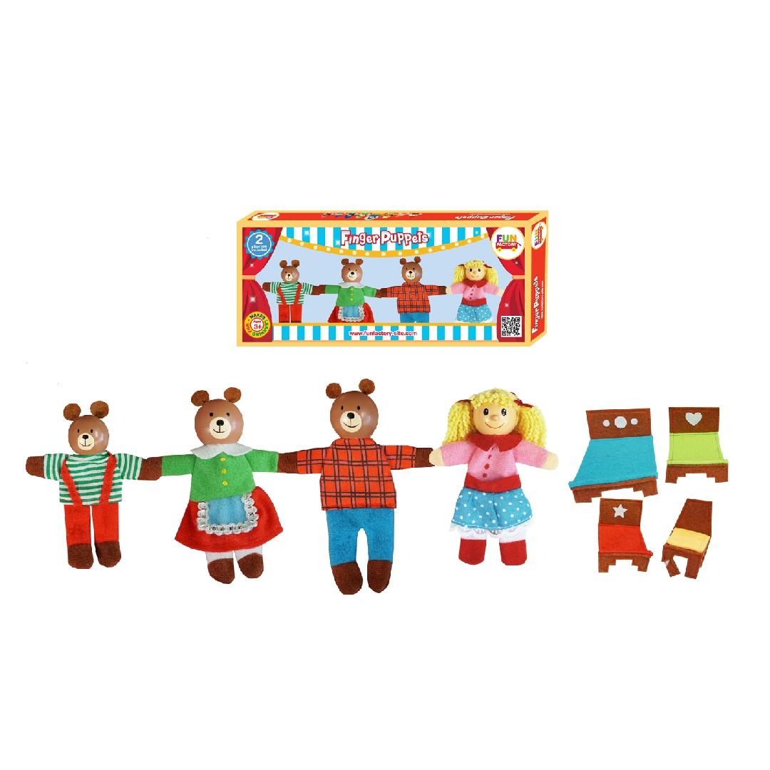 Goldilocks Finger Puppets with Storybook (9pcs)
