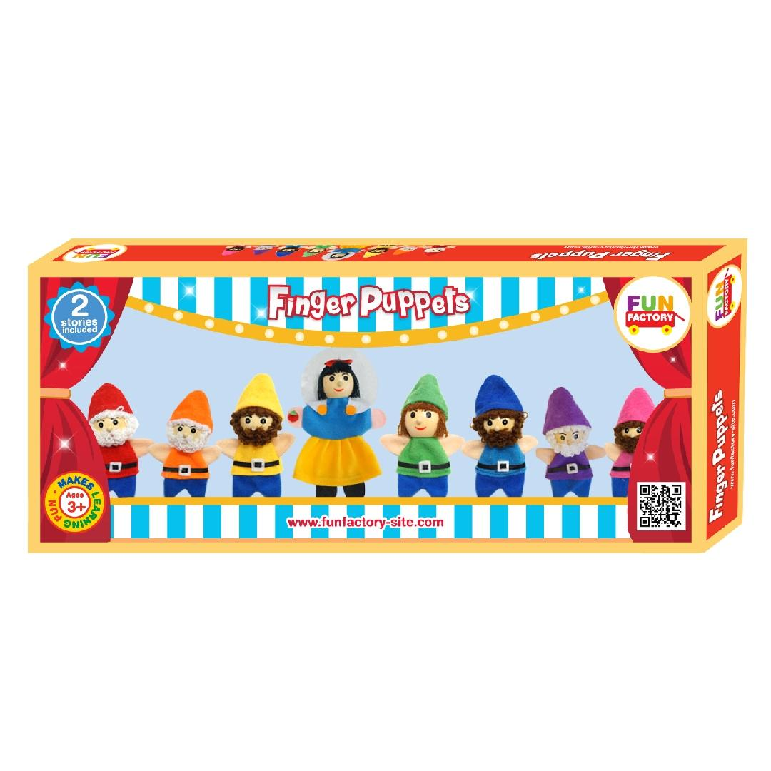 Snow White Finger Puppets with Storybook (9pcs)