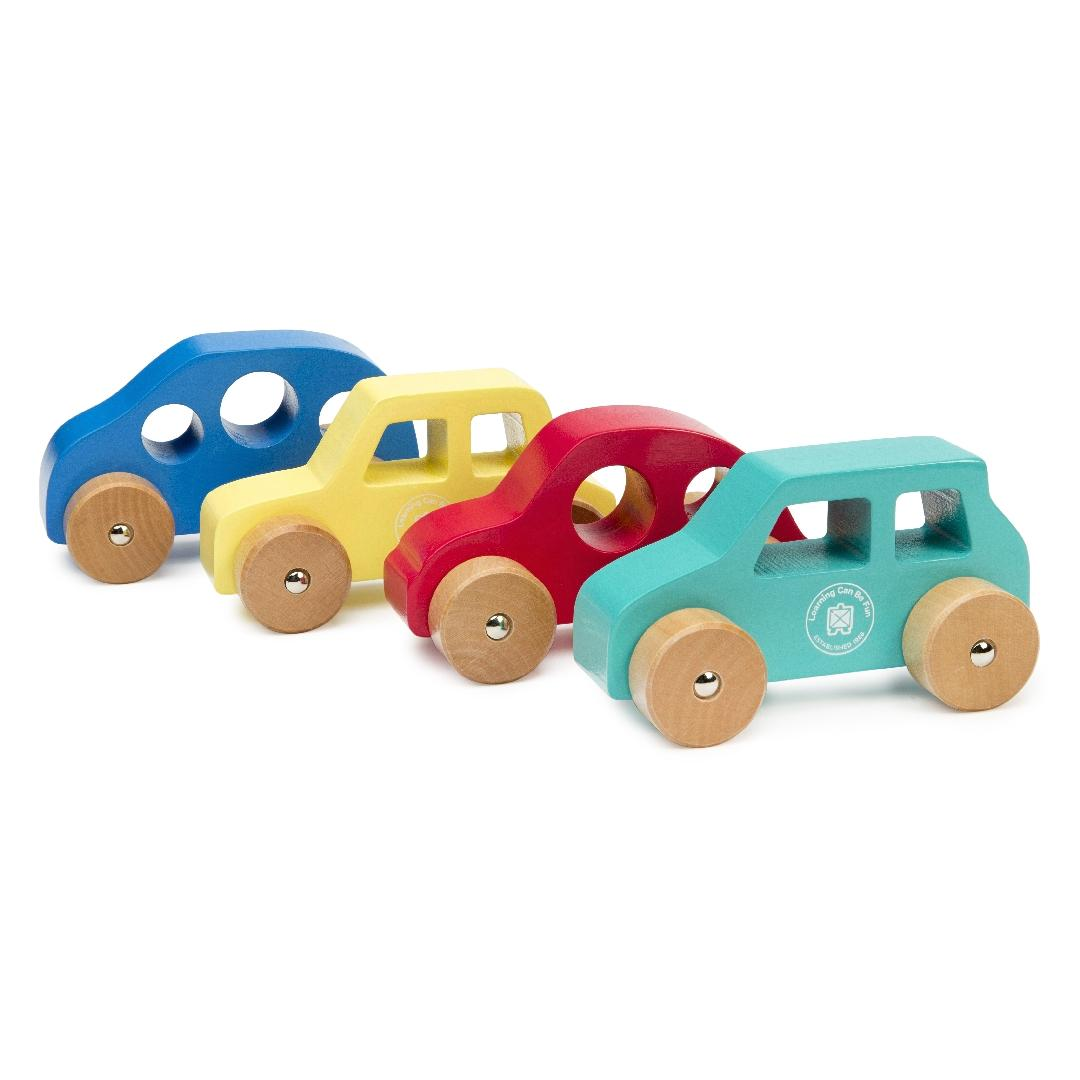 Wooden Car Set (Set of 8)