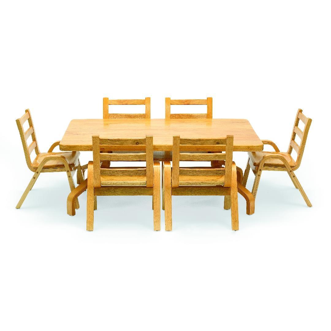 Natural Wood Rectangular Table 50cmH