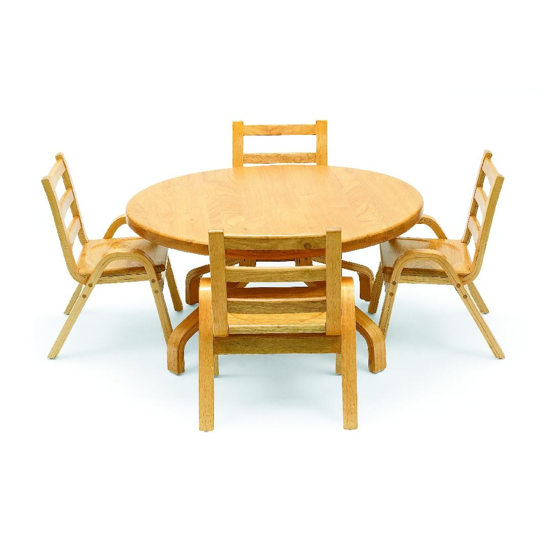 Natural Wood Round Table 35cmH