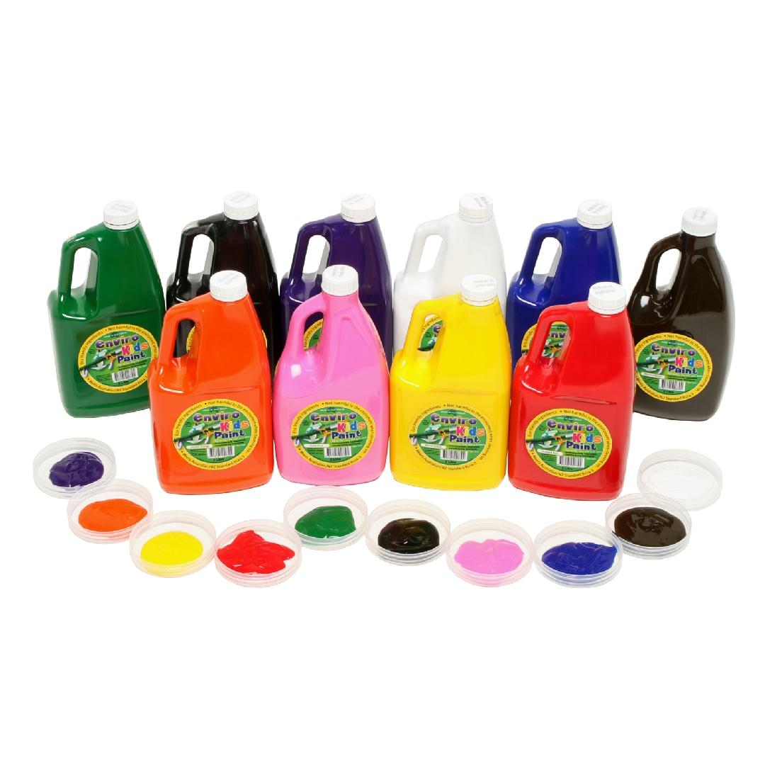 Enviro Paint Primary 2 Litre Set (10pcs)