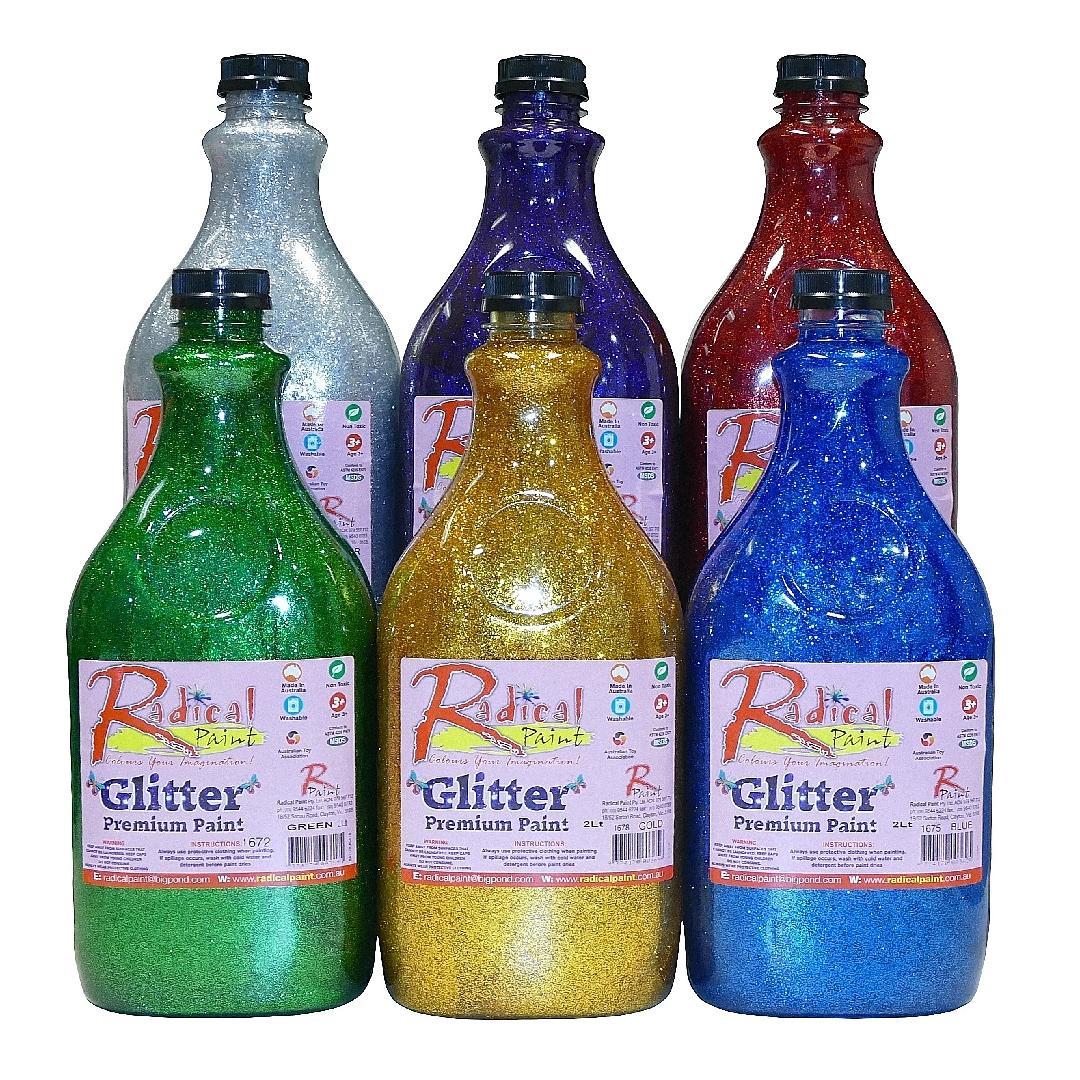 Glitter Paint 2 Litre Set (6pcs)