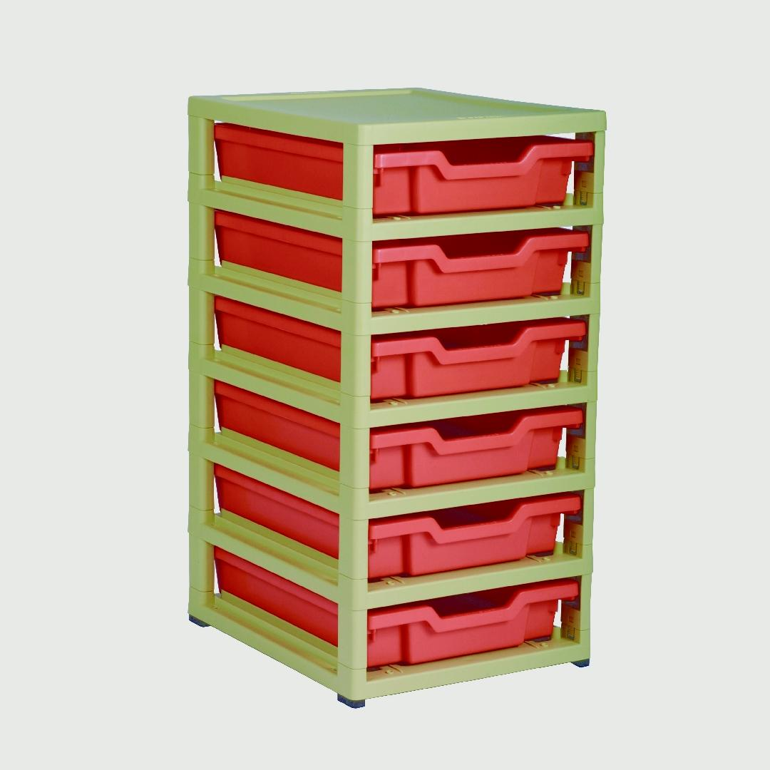 Little Gem 6 Shallow Tray Unit Red