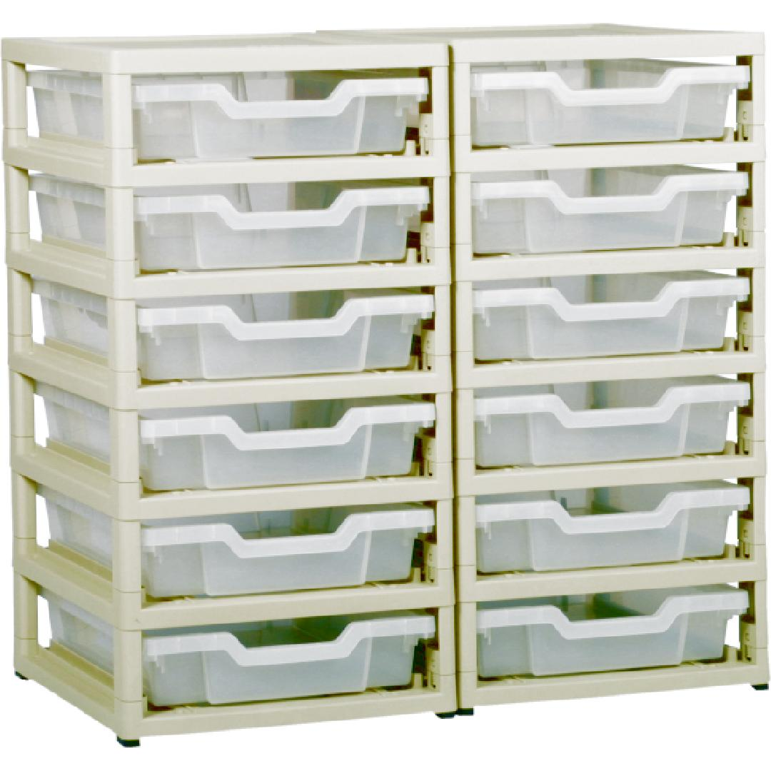 Little Gem 12 Shallow Tray Unit Clear