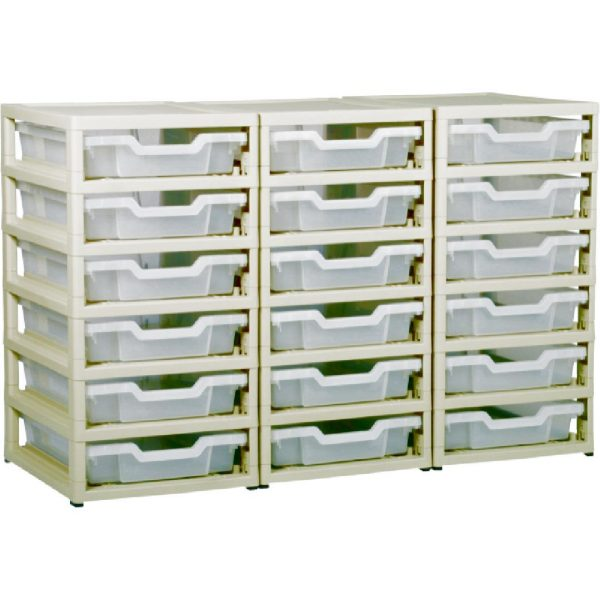 Little Gem 18 Shallow Tray Unit Clear