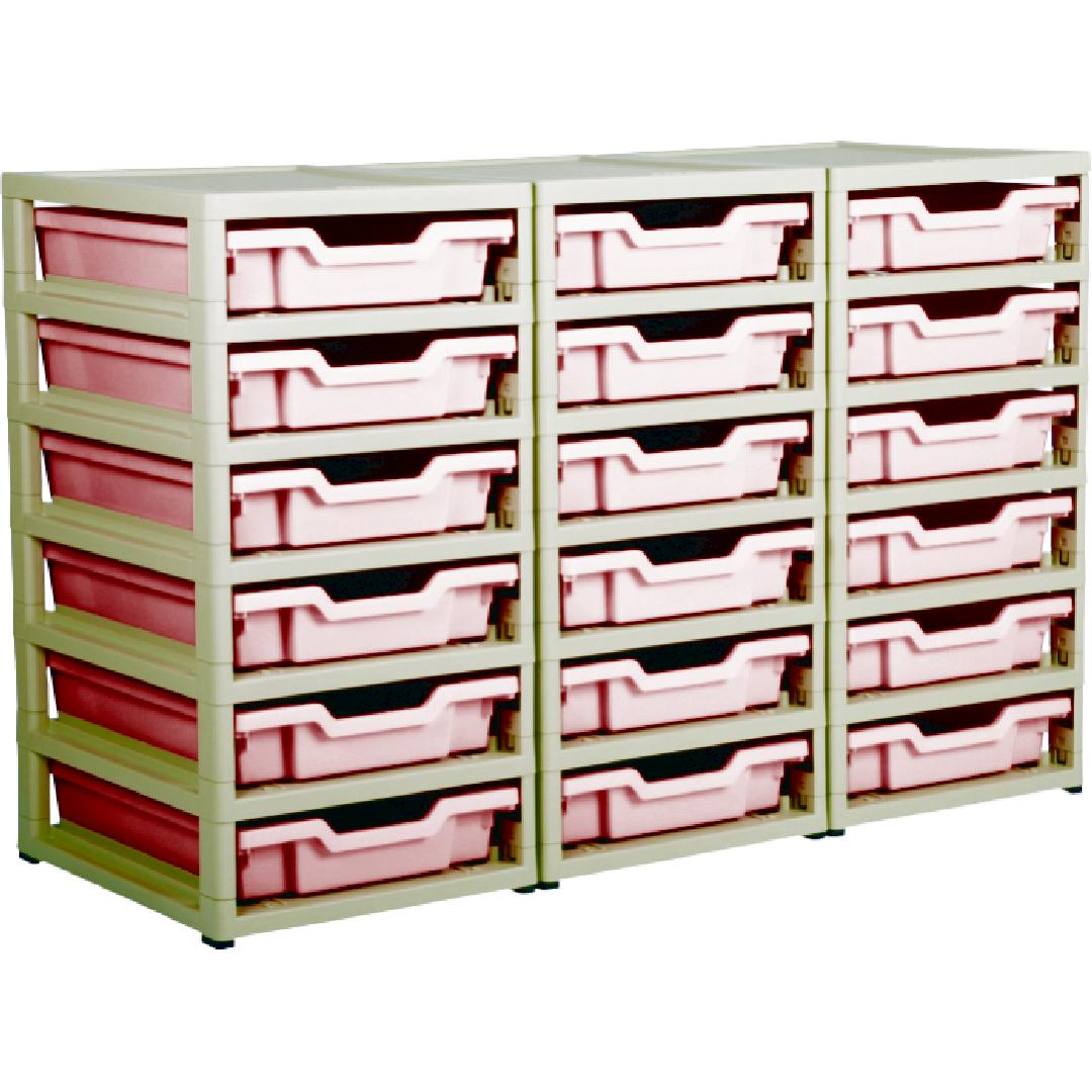 Little Gem 18 Shallow Tray Unit Red