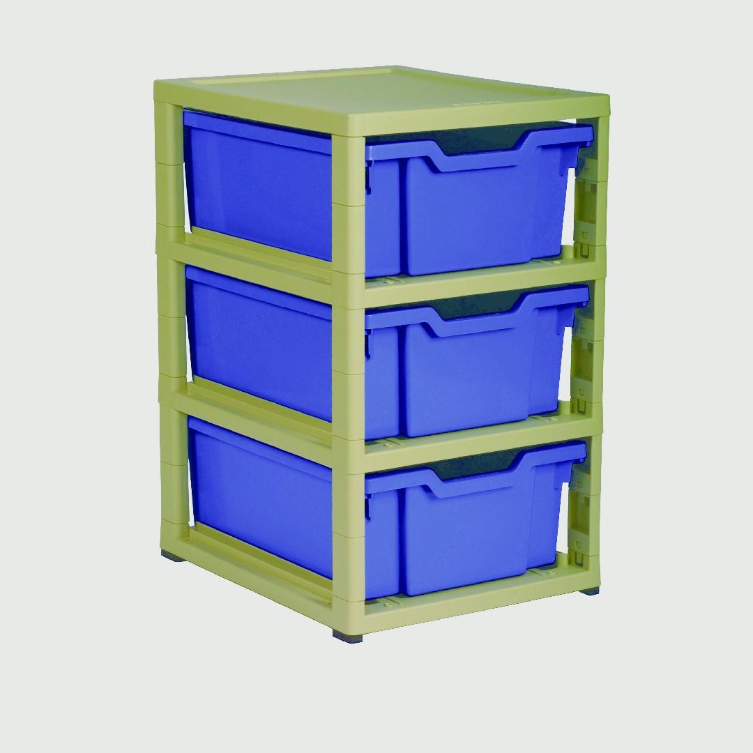 Little Gem 3 Deep Tray Unit Blue