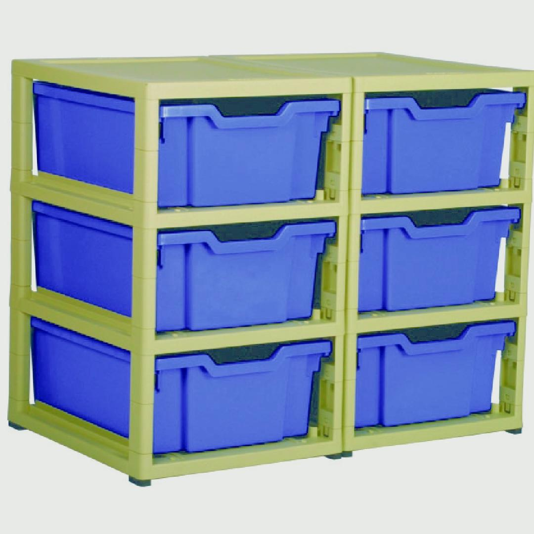 Little Gem 6 Deep Tray Unit Blue