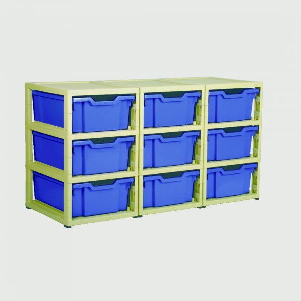 Little Gem 9 Deep Tray Unit Blue